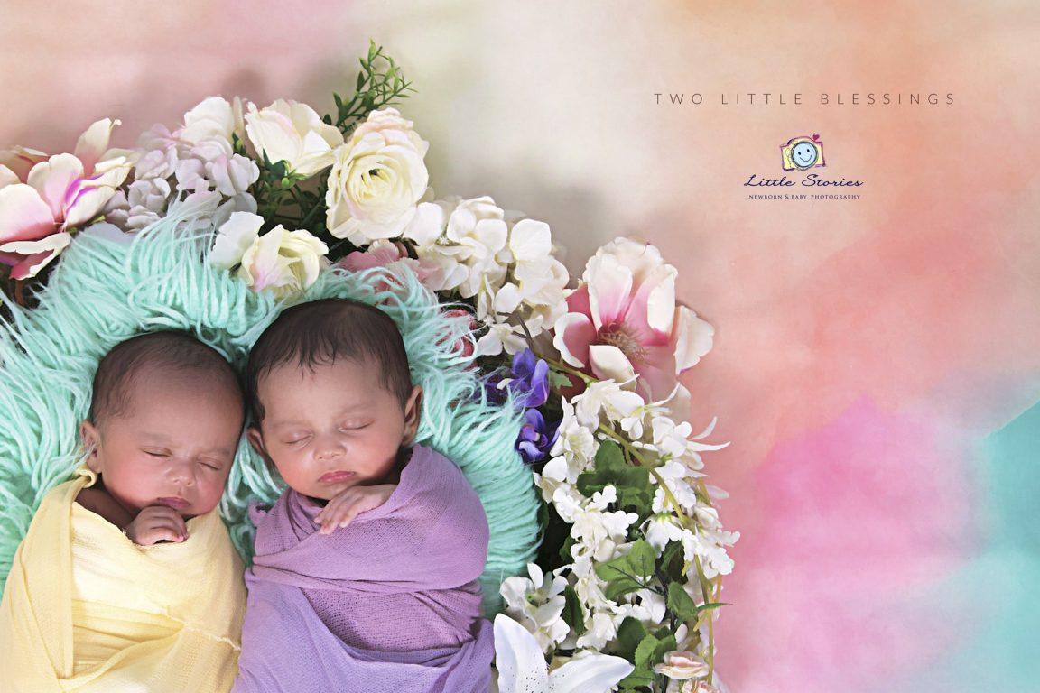 Twins Newborn Photo Shoots