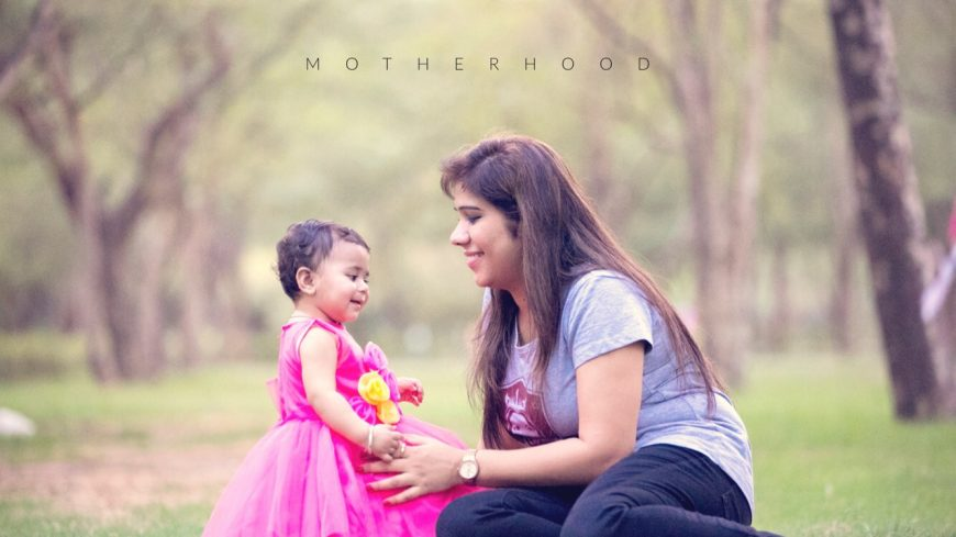 Cute girl with mother photography